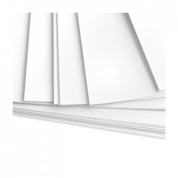 100 feuilles de papier Bristol A4 blanc - 180 gr/m²