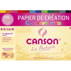 Papier Canson 150 g/m² couleurs vives