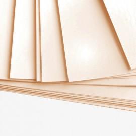 10 feuilles de papier Bristol A4 Crème - 180 gr/m²