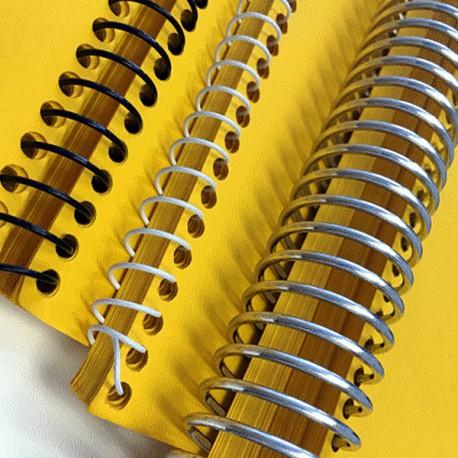 Spirales métaliques Coil 10 mm 49 boucles - Pas 4:1 pour perforelieur Coil