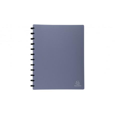 Protége-documents à anneaux et pochettes amovibles Exacompta - 60 vues - Bleu Métal