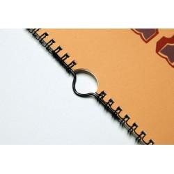 100 Crochets couleur métal 105 mm - suspendre calendrier relié