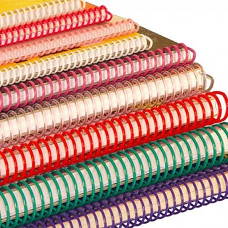 100 Spirales plastiques Coil 18 mm pour perforelieur Coil