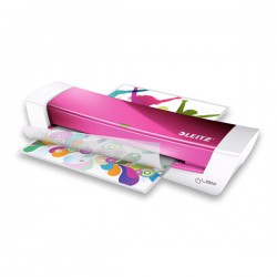 Plastifieuse Ilam Home Office A4 Rose + 1 feuille nettoyage