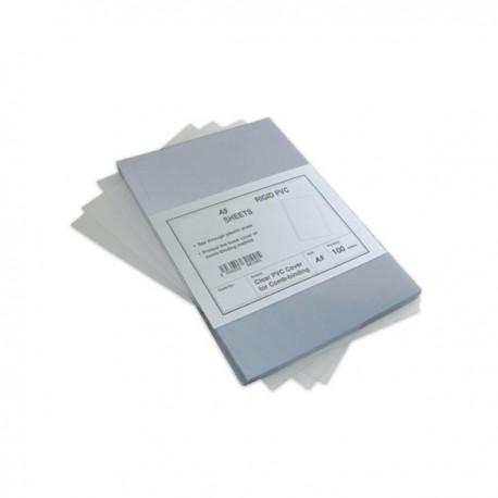 100 Plats couverture A5 en PVC 18/100 (180 microns) brillants