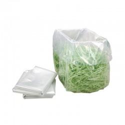 Lot de 100 Sacs plastiques récupérateurs 50 Litres pour destructeur de papiers