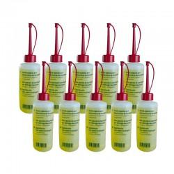 Pack de 10 Bouteilles de 200 ml d'huile de lubrification pour destruccteur