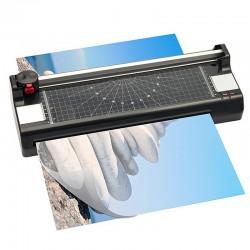 Plastifieuse Lamicut A3 + Rogneuse A3 + Arrondisseur d'angles | Plastifie jusqu'à 125 microns
