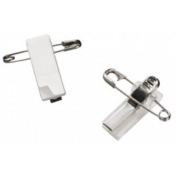sachet de 10 Clips métal adhésifs à pince crocodile et épingle de sureté