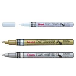 Marqueur laque Pentel - pointe extra fine - 3 couleurs au choix
