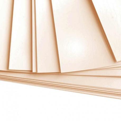 100 feuilles de papier Bristol A4 Crème