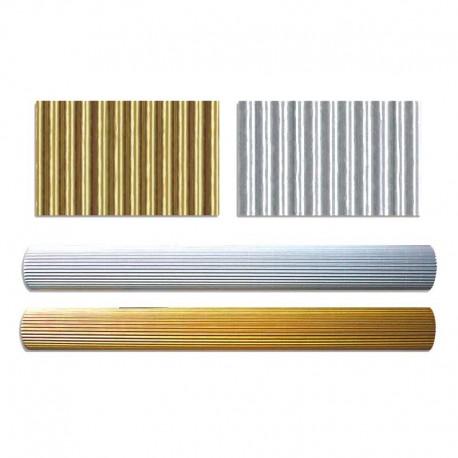 10 feuilles de carton ondulé Or et Argent de 260 gr/m² - 230 x330 mm