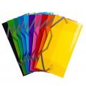 Pochettes pour transport de masques - 3 rabats avec Elastiques format 25x12 cm - Polypropylène 5/10e
