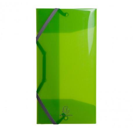 Chemises 3 rabats Elastiques format enveloppe (25x12 cm) Exacompta - IDERAMA - Polypropylène 5/10e