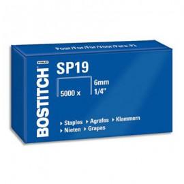 Boîte en carton de 5000 agrafes Bostitch SP19 1/4 - 6mm pour agrafeuse P3