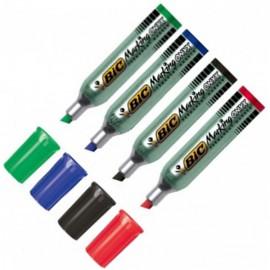 Marqueur BIC Onyx 1481 pointe biseautée 4-7 mm - 4 couleurs au choix
