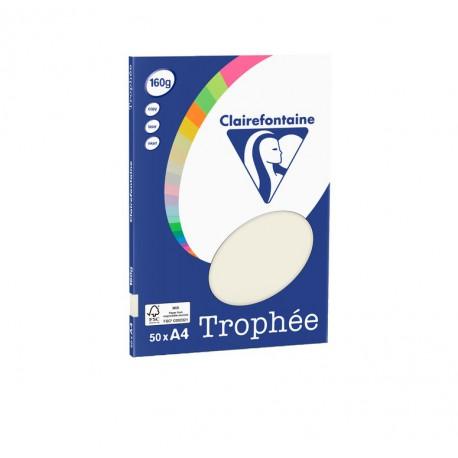 50 feuilles de papier A4 trophée 160 gr/m² de Clairefontaine - plusieurs couleurs disponibles