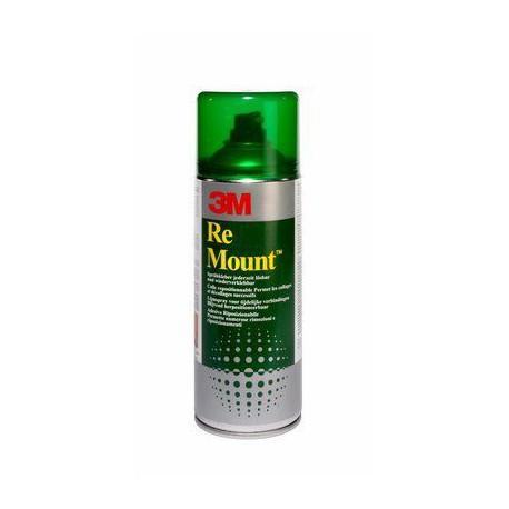 Colle en spray 3M Remount 400 ml - adhésif repositionnable