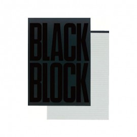 Bloc 70 feuilles détachables gris ligné BLACK BLOCK Exacompta