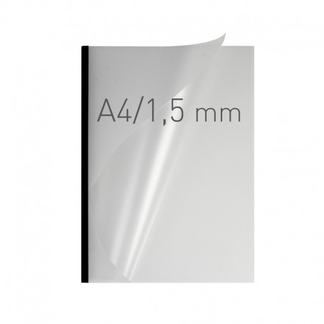 Chemises par serrage Easy Cover 1,5 mm tranche métal Noire