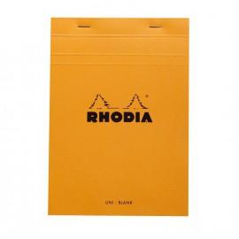 Bloc de bureau A5 petits carreaux Rhodia - 80 feuilles détachables