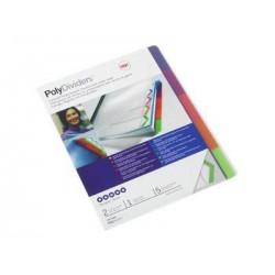 5 Intercalaires Polydividers de GBC - polypro non perforés