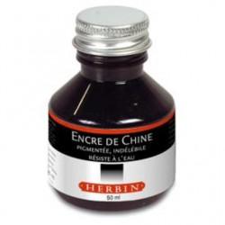 Flacon de 50 ml d'encre de chine Herbin - noire