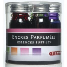 Set de 5 flacons assortis de 10ml d'encres parfumées Herbin