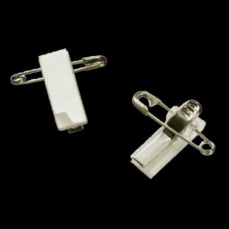 Clips métal adhésifs à pince croco et épingle