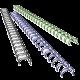 100 anneaux métal 34 boucles 12,7 mm (N°8 - 1/2)
