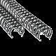 50 anneaux métal 23 boucles 16 mm (N°10 - 5/8)
