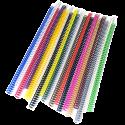100 Spirales plastiques Coil 6 mm - 49 boucles Pas 4:1