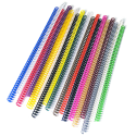 100 Spirales plastiques Coil 8 mm - 49 boucles Pas 4:1