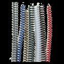100 Spirales plastiques Coil 10 mm 59 boucles - Pas 5:1