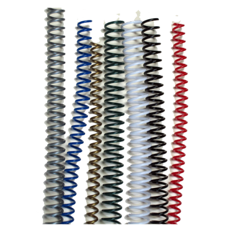 Spirales plastiques Coil 6 mm - 59 boucles Pas 5:1