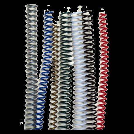 100 Spirales plastiques Coil 6 mm - 59 boucles Pas 5:1