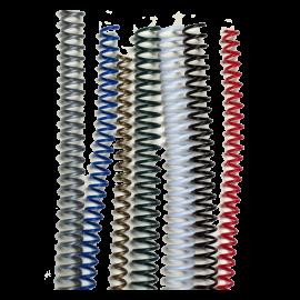 50 Spirales plastiques Coil 16 mm 59 boucles - Pas 5:1