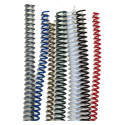 100 Spirales plastiques Coil 14 mm 59 boucles - Pas 5:1