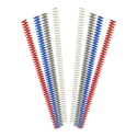 100 Spirales métalliques Coil 6 mm 49 boucles - Pas 4:1