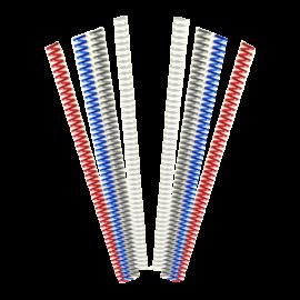Spirales métaliques Coil 10 mm 49 boucles - Pas 6 mm pour perforelieur Coil