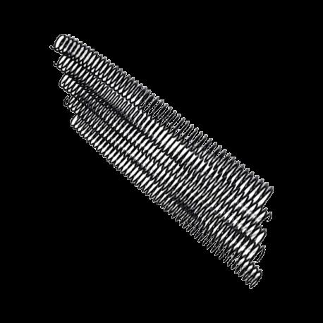 100 Spirales métal Coil 16 mm - Pas de perforation 5:1 - 59 boucles