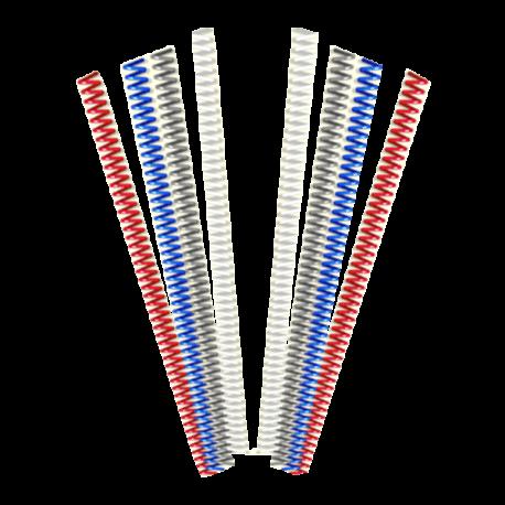 Spirales métaliques Coil 16 mm 49 boucles - Pas 6 mm pour faire de la reliure spirale métal