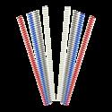 100 Spirales métalliques Coil 16 mm 49 boucles - Pas 4:1