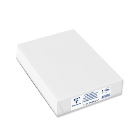 250 Dos de Couverture Linen Blanc A4 210 g - Clairefontaine