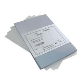 100 Plats de couverture PVC 180 microns brillants pour la reliure
