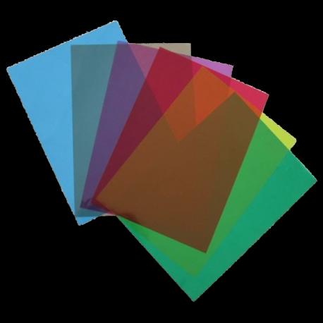100 Plats couverture A4 PVC 18/100 (180 microns) brillants couleurs