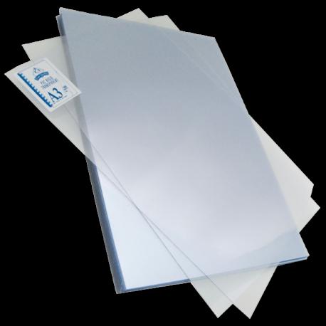 Plats de couverture PVC A3 18/100 (180 microns) brillants