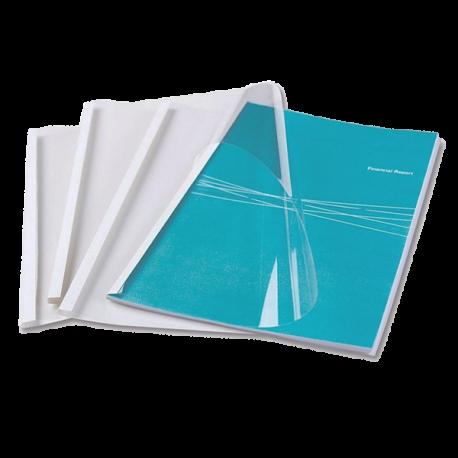 Couvertures thermiques A4 Dos blanc 12 mm - Reliure thermique