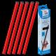25 baguettes à relier SERODO A4 3mm de couleur Rouge