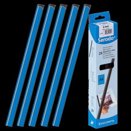25 baguettes à relier sans machine SERODO 3mm coloris Bleu